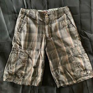 Union Bay Plaid Cargo Shorts-Boys